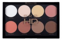 MAKEUP REVOLUTION - PRO HD AMPLIFIED PALETTE  - MEGA MATTE - Paleta 8 pudrów do twarzy