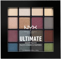 NYX Professional Makeup - ULTIMATE SHADOW PALETTE - SMOKEY & HIGHLIGHT - Paleta 16 cieni do powiek