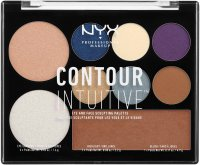 NYX Professional Makeup - CONTOUR INTUITIVE - EYE AND FACE SCULPTING PALETTE - Wielozadaniowa paleta do makijażu - JEWEL QUEEN