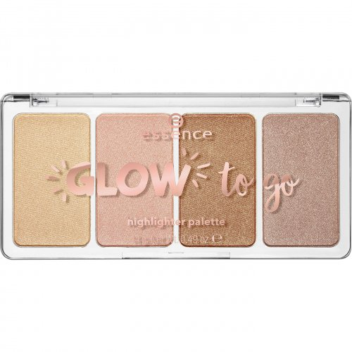 Essence - GLOW to go - Highlighter Palettte - Paletka 4 rozświetlaczy - 10 - Sunkissed Glow