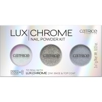 Catrice - LUX CHROME - NAIL POWDER KIT - Zestaw 3 pudrów do paznokci