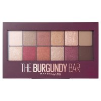 MAYBELLINE - THE BURGUNDY BAR EYESHADOW PALETTE - Paleta 12 cieni do powiek