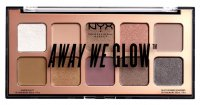 NYX Professional Makeup - AWAY WE GLOW - LOVEBEAM - SHADOW PALETTE - Paleta 10 cieni do powiek