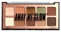 NYX Professional Makeup - AWAY WE GLOW - Shadow Palette - Paleta 10 cieni do powiek - 02 HOOKED ON GLOW