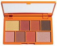 I HEART REVOLUTION - MINI EYESHADOW PALETTE - CHOC ORANGE - Zestaw 8 cieni do powiek