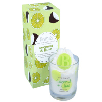 Bomb Cosmetics - Piped Candle with Pure Essential Oils - Coconut&Lime - Świeca zapachowa z pianką - COCONUT&LIME