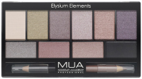 MUA - Eyeshadow Palette -  Elysium Elements - Paleta 10 cieni do powiek + podwójna kredka do oczu