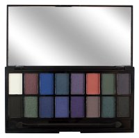 MAKEUP REVOLUTION - Give Them Darkness Palette - Paleta 16 cieni do powiek