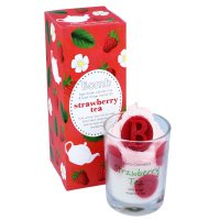 Bomb Cosmetics - Piped Candle with Pure Essential Oils - Strawberry Tea - Świeca zapachowa z pianką - STRAWBERRY TEA