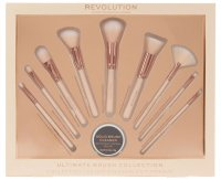 MAKEUP REVOLUTION - ULTIMATE BRUSH COLLECTION - Zestaw 9 pędzli + mydełko