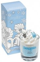 Bomb Cosmetics - Piped Candle with Pure Cinnamon & Sandalwood Essential Oils - Snowglobe - Świeca zapachowa z pianką - SNOWGLOBE