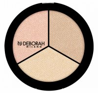 DEBORAH MILANO - Secrets of Strobing - TRIO HIGHLIGHTER PALETTE - Paleta 3 rozświetlaczy do twarzy