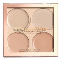 MAKEUP REVOLUTION - Matte Base Concealer Kit - Paleta korektorów do twarzy - C1-C4
