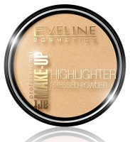 EVELINE - ART MAKE-UP - HIGHLIGHTER PRESSED POWDER - Puder rozświetlający - 55 Golden
