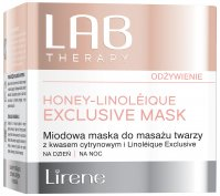Lirene - LAB THERAPY - HONEY LINOLEIQUE EXCLUSIVE MASK - Miodowa maska do masażu twarzy