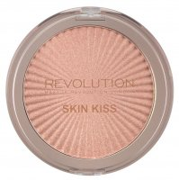 MAKEUP REVOLUTION - SKIN KISS - Highlighter - Rozświetlacz do twarzy - PEACH KISS - PEACH KISS
