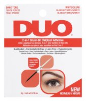 DUO - 2in1 Brush On Striplash Adhesive - Klej do rzęs 2w1 - Black/White