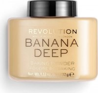 MAKEUP REVOLUTION - BANANA - LOOSE BAKING POWDER - Sypki puder bananowy - DEEP