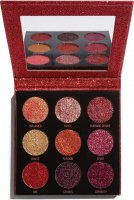 MAKEUP REVOLUTION - PRESSED GLITTER PALETTE - Paleta 9 prasowanych brokatów - HOT PURSUIT