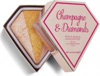 I Heart Revolution - DIAMOND - TRIPLE BAKED HIGHLIGHTER - Rozświetlacz do twarzy - Champagne & Diamonds
