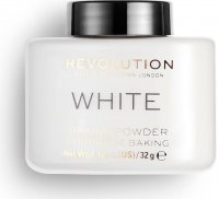 MAKEUP REVOLUTION - WHITE - LOOSE BAKING POWDER - Sypki puder do twarzy