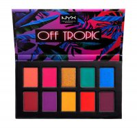 NYX Professional Makeup - OFF TROPIC - Shadow Palette - Paleta 10 cieni do powiek - 01 HASTA LA VISTA
