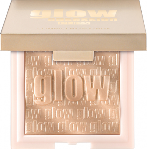 PUPA - GLOW OBSESSION - COMPACT HIGHLIGHTER - Rozświetlacz do twarzy - 003 PURE GOLD