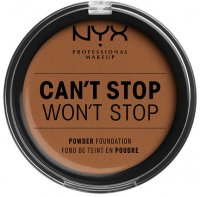 NYX Professional Makeup - CAN'T STOP WON'T STOP POWDER FOUNDATION  - Podkład do twarzy w pudrze - 17 - CAPPUCCINO - 17 - CAPPUCCINO