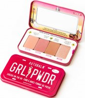 THE BALM - AUTOBALM - GRL PWDR - CHEEKS ON THE GO - Paleta 4 róży do twarzy
