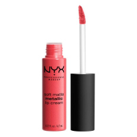 NYX Professional Makeup - SOFT MATTE METALLIC LIP CREAM - Metaliczna, matowa pomadka do ust - C07 - MANILA - C07 - MANILA