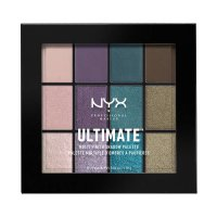 NYX Professional Makeup - ULTIMATE MULTI FINISH SHADOW PALETTE - Paleta 12 cieni do powiek - 07 SMOKE SCREEN