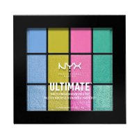 NYX Professional Makeup - ULTIMATE MULTI FINISH SHADOW PALETTE - Paleta 12 cieni do powiek - 05 ELECTRIC