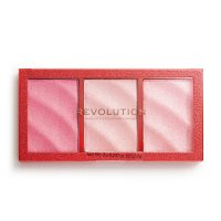 MAKEUP REVOLUTION - PRECIOUS STONE - HIGHLIGHTER - Paleta 3 rozświetlaczy - RUBY CRUSH