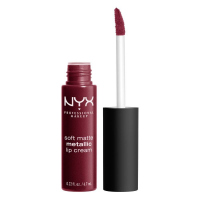 NYX Professional Makeup - SOFT MATTE METALLIC LIP CREAM - Metaliczna, matowa pomadka do ust - C02 - COPENHAGEN - C02 - COPENHAGEN