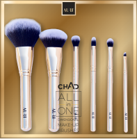 AURI - CHAD - ALL in ONE DIMENSIONAL MAKE-UP BRUSHES - Zestaw 6 pędzli do makijażu