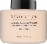 MAKEUP REVOLUTION - LUXURY BAKING POWDER - Sypki puder bananowy - 42 g