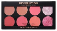 MAKEUP REVOLUTION - Ultra Blush Palette SUGAR AND SPICE - Paleta 8 róży