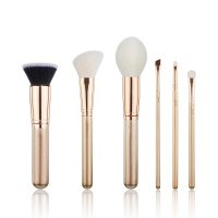 JESSUP - Classics Alchemy Brushes Set - Zestaw 6 pędzli do makijażu - T419 Golden/Rose Gold
