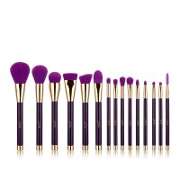 JESSUP - Colorful Brushes Set - Zestaw 15 pędzli do makijażu - T114 Purple/Dark Violet