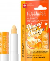 EVELINE - LIP THERAPY PROFESSIONAL - HONEY WITH ORANGE LIP BALM - Odżywcza pomadka ochronna do ust w sztyfcie - Miód z Pomarańczą