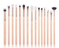 JESSUP - Classics Chrysalid Series Brushes Set - Zestaw 15 pędzli do makijażu - T447 Peach Puff/Rose Gold