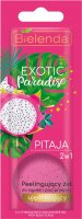 Bielelda - Exotic Paradise - 2in1 Firming Bath and Shower Gel with Body Scrub - Peelingujacy żel do kąpieli i pod prysznic - Ujędrniajacy - Pitaja - 25g
