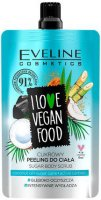 EVELINE - I LOVE VEGAN FOOD - COCONUT DETOX SUGAR BODY SCRUB - Cukrowy peeling do ciała - KOKOSOWY - 75 ml
