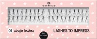 Essence - LASHES TO IMPRESS - Kępki rzęs - 01 Single Lashes
