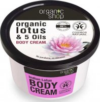 ORGANIC SHOP - Lotus Indien Body Cream - Organic Lotus & 5 Oils - Krem do ciała indyjski lotus - 250 ml