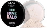 NYX Professiona Makeup - HOLO GRAPHIC HALO FINISHING POWDER - Holograficzny puder do utrwalania makijażu - 01 MERMAZING