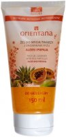 ORIENTANA - FACE GEL CLEANSER WITH RICE PARTICLES - ALOE AND PAPAYA - Żel do mycia twarzy z drobinkami ryżu - Aloes i papaja - 150 ml
