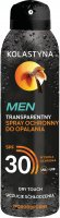 KOLASTYNA - MEN - Transparentny spray ochronny do opalania -  SPF30 - 150 ml